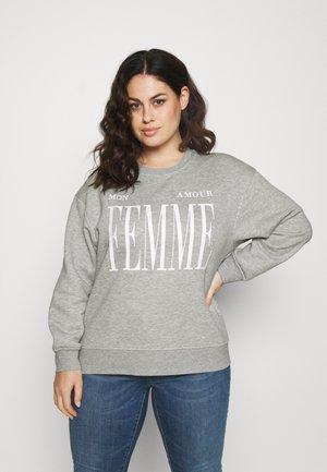 SLFMOUR PRINT - Sweater - light grey melange