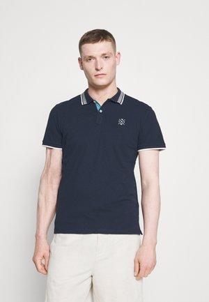 UNDERCOLLAR WORDING - Polo shirt - sky captain blue