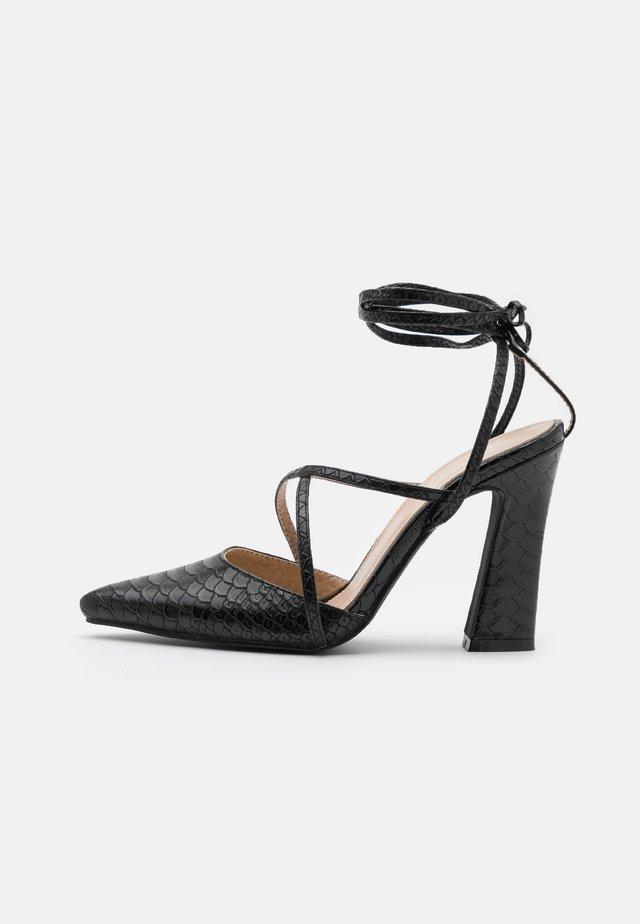 NIEVE - Lodičky na vysokém podpatku - black