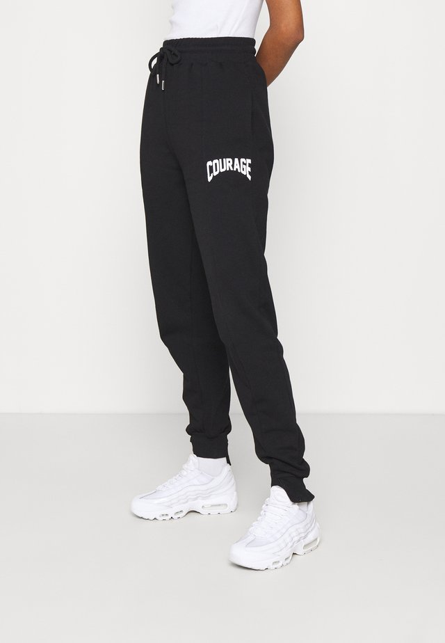 SPLICED COURAGE JOGGER - Trainingsbroek - black