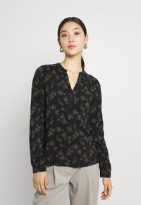 b.young - BYJOSA V NECK - Long sleeved top - deep depths - 0