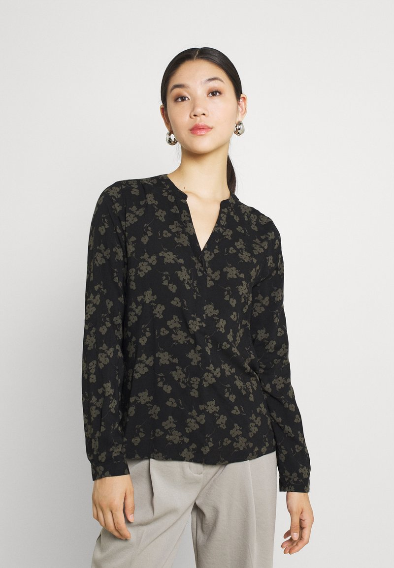 b.young - BYJOSA V NECK - Long sleeved top - deep depths