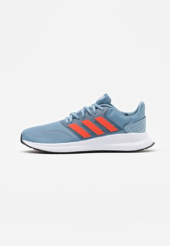 RUNFALCON UNISEX - Neutral running shoes - tactile blue/semi solar red/core black