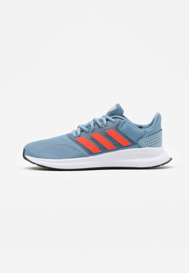 adidas Performance - RUNFALCON UNISEX - Neutral running shoes - tactile blue/semi solar red/core black