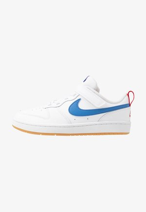 COURT BOROUGH 2 - Sneaker low - white/pacific blue/university red/light brown