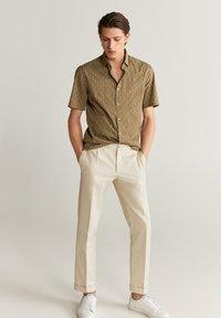 Mango - Formal shirt - beige - 0