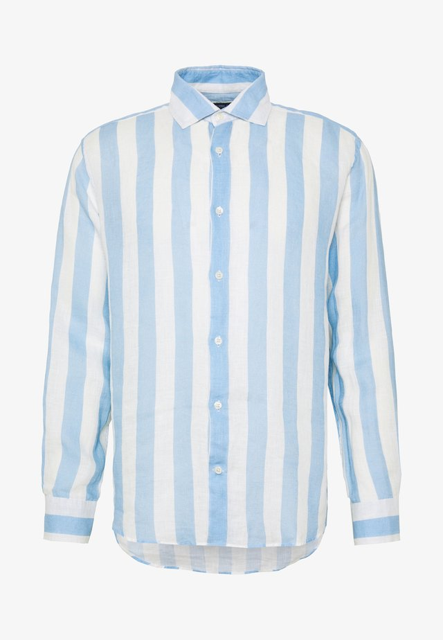 LINEN STRIPED SHIRT - Camicia - light blue/white
