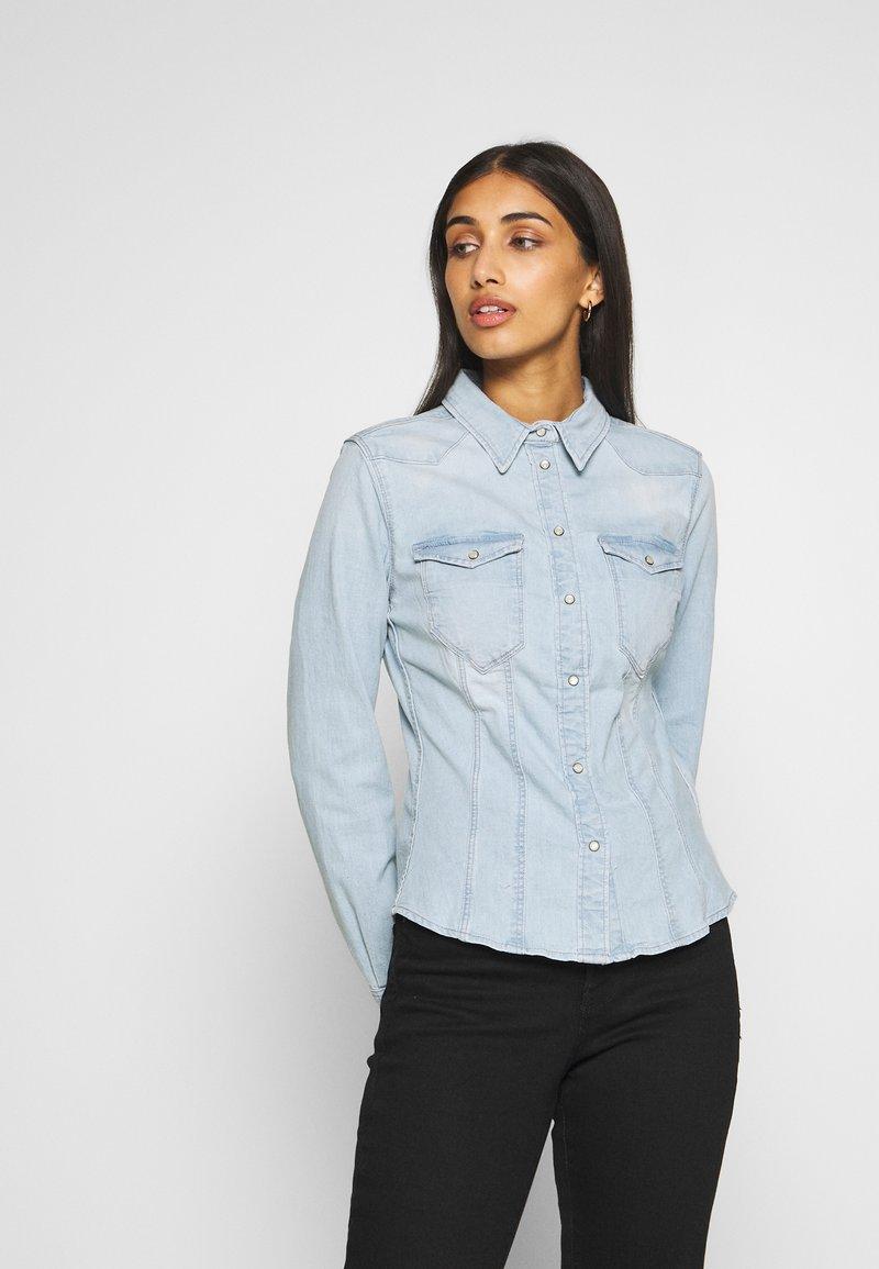 G-Star - SLIM SHIRT - Skjorte - light-blue denim