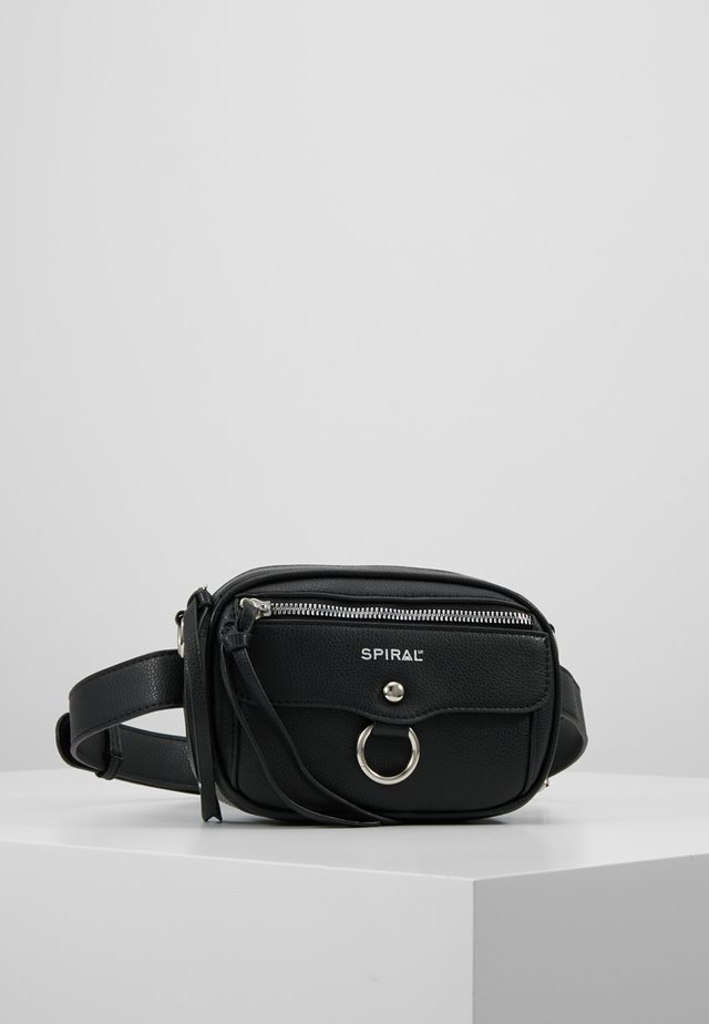 LABEL BUM BAG - Riñonera - black