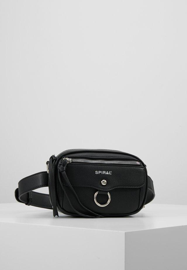 LABEL BUM BAG - Marsupio - black