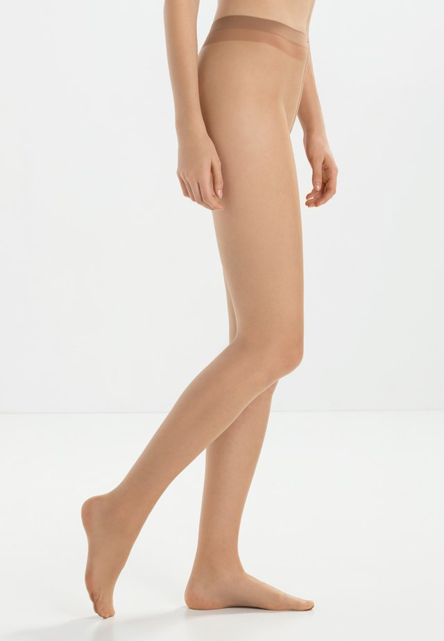 FALKE SHELINA 12 DENIER STRUMPFHOSE ULTRA-TRANSPARENT GLÄNZEND BEIGE - Tights - sun
