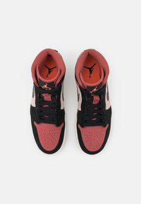 Jordan - WOMENS AIR 1 MID - Sneakersy wysokie - particle beige/black/canyon rust/sail - 7