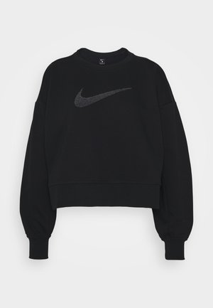 DRY GET FIT CREW - Sweatshirts - black/light smoke grey