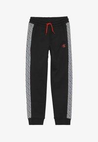 Champion - CHAMPION X ZALANDO PANT - Spodnie treningowe - black/white - 3