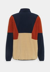 Fila - WAFA BLOCKED HALF ZIP - Bluza z polaru - irish cream/black iris/cinnamon stick - 1
