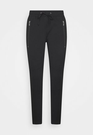 ZIPPED PANTS - Bukser - deep black