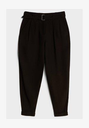 PUMPHOSE AUS LYOCELL - Trousers - black