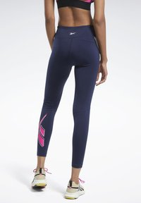 Reebok - WORKOUT READY VECTOR LEGGINGS - Tights - blue - 2