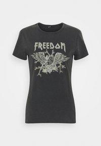 ONLLUCY ROCK - Print T-shirt - black