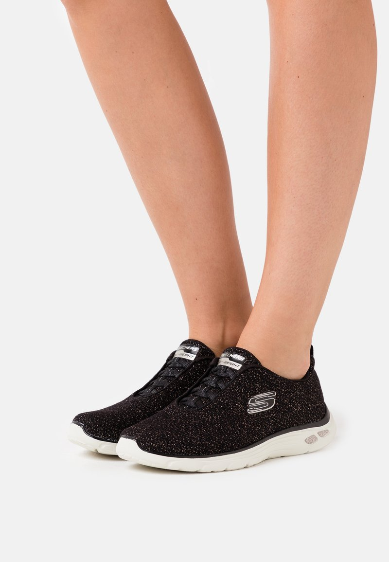Skechers - EMPIRE D'LUX - Trainers - black/gold/offwhite