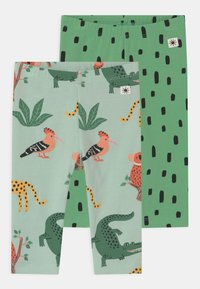 Lindex - ANIMAL 2 PACK UNISEX - Leggings - green - 0