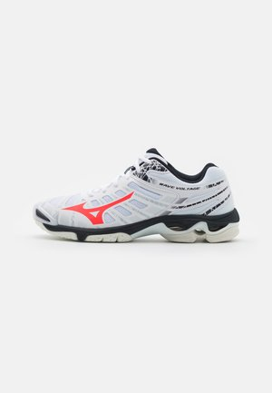 WAVE VOLTAGE - Volleyball shoes - white/ignition red/salute