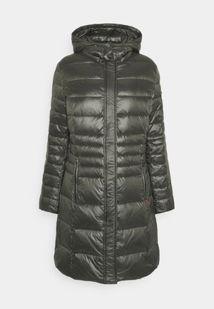 Down coat - black olive