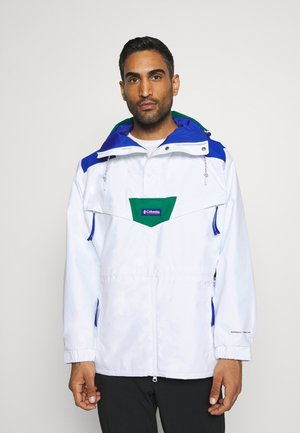 MONASHEE ANORAK - Outdoorjas - white/lapis blue/emerald green