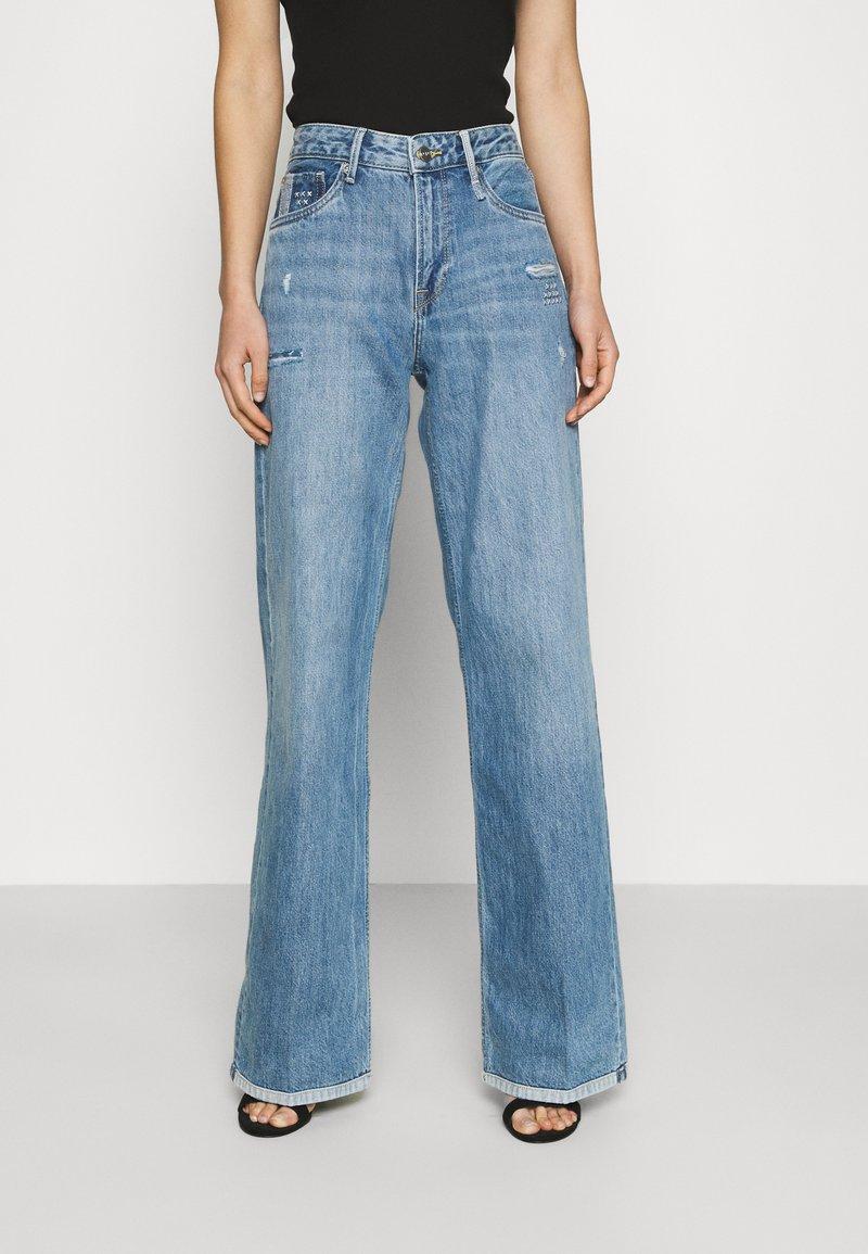 Pepe Jeans - JIVE REPAIR - Flared Jeans - denim