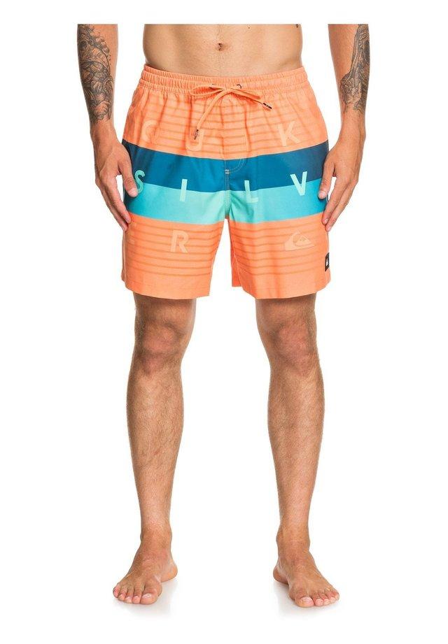 WORD BLOCK VOLLEY 17 - Swimming shorts - nectarine
