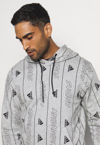 adidas Performance - Hoodie - medium grey heather/black - 4