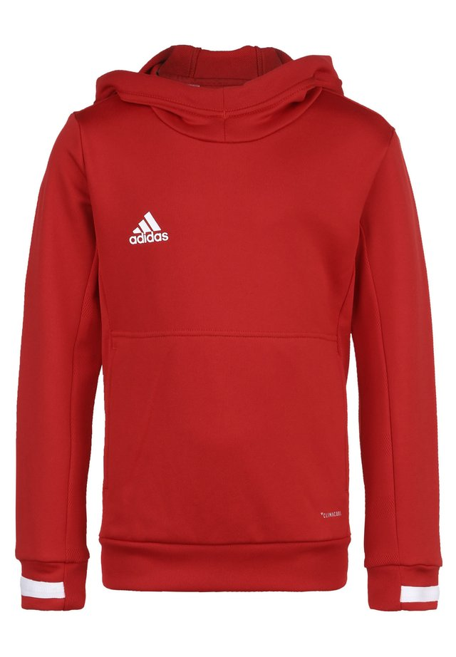 TEAM 19 KAPUZENPULLOVER KINDER - Hoodie - power red / white