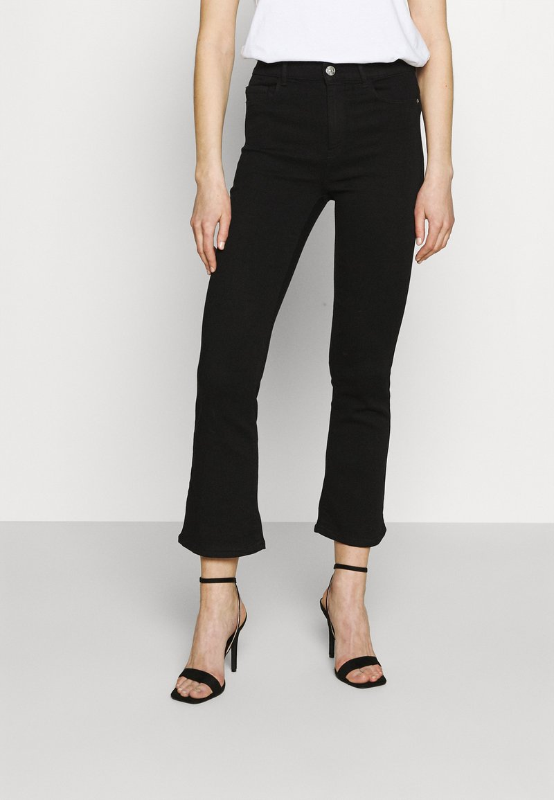 ONLY - ONLRAIN SWEET - Flared Jeans - black