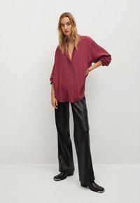 Mango - CEBRA-A - Button-down blouse - maroon - 1