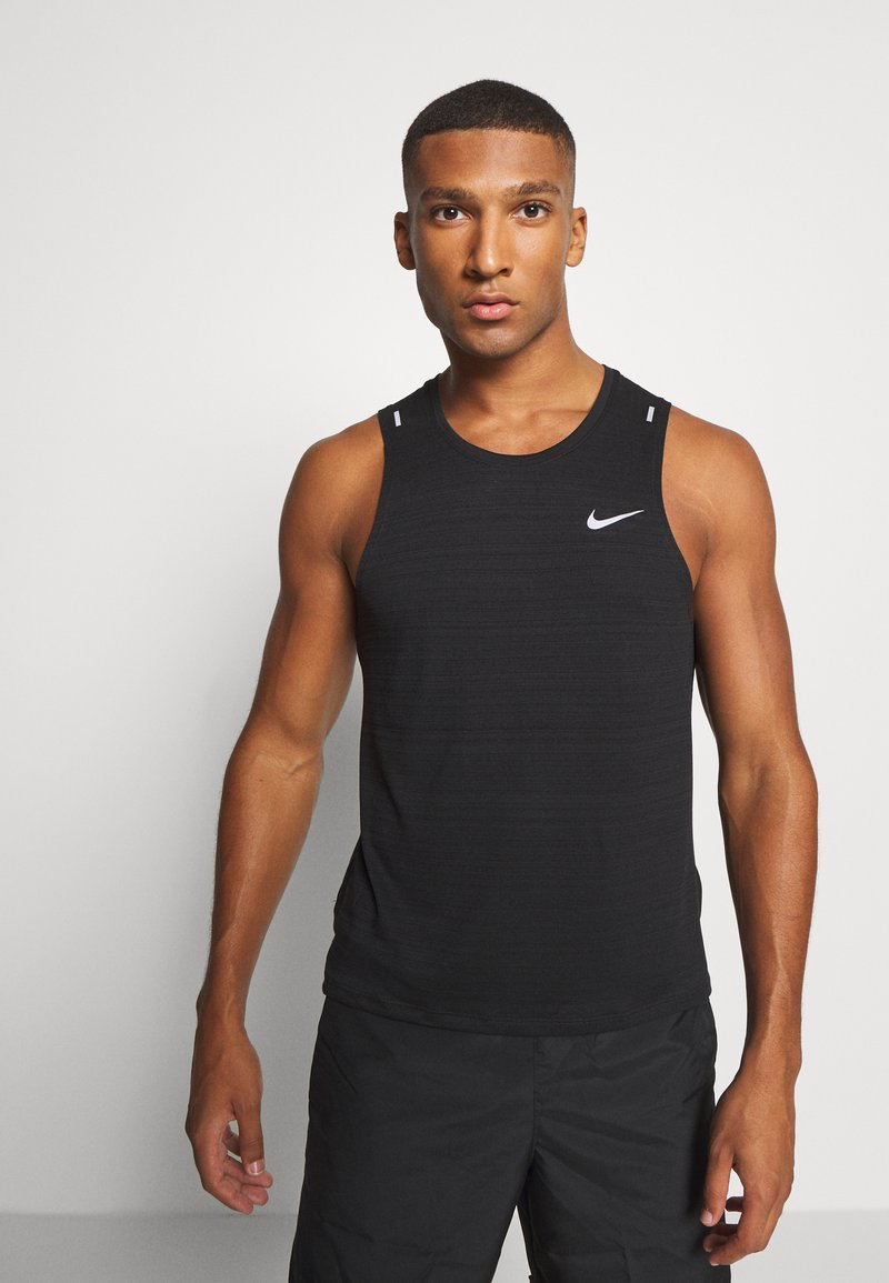 Nike Performance - MILER TANK - Funktionströja - black/silver