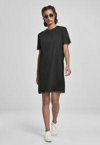 Urban Classics - BOXY LACE  - Jersey dress - black - 1