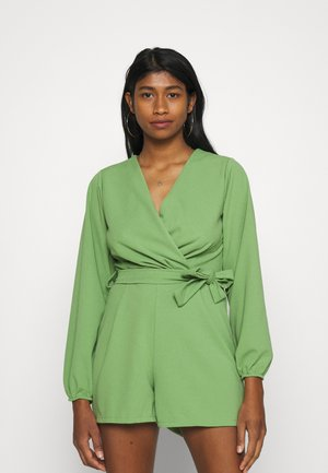 CARLA BELTED PLAYSUIT - Jumpsuit - pea green