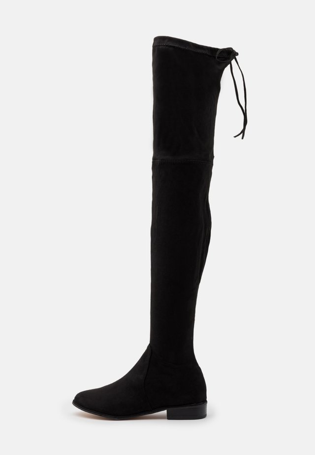 FLAT BOOTS - Over-the-knee boots - black