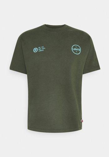 VINTAGE FIT GRAPHIC TEE - T-shirt med print - deep depths