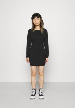 LONGSLEEVE MINI DRESS - Sukienka letnia - black