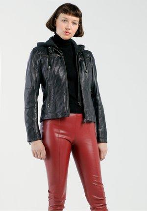 ZOE - Leather jacket - schwarz