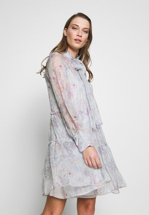 Korte jurk - multicolor grey