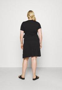 Simply Be - ORING DRESS - Vestito di maglina - black - 2