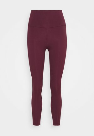 THE YOGA LUXE - Legginsy - night maroon/team red
