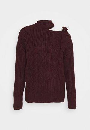 DECON SHOULDER CABLE JUMPER - Strikkegenser - oxblood