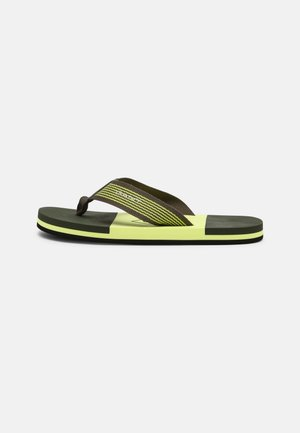 PALMWORLD BEACH - T-bar sandals - dark leaf