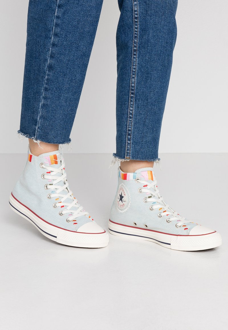 Converse - CHUCK TAYLOR ALL STAR - Høye joggesko - blue/multicolor/egret