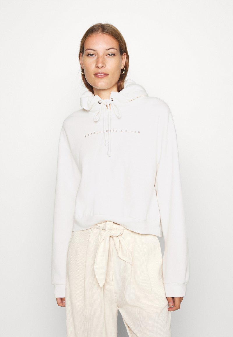 Abercrombie & Fitch - SMALL SCALE LOGO - Hoodie - white
