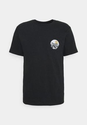 WHEELER - T-shirt print - black/blonde