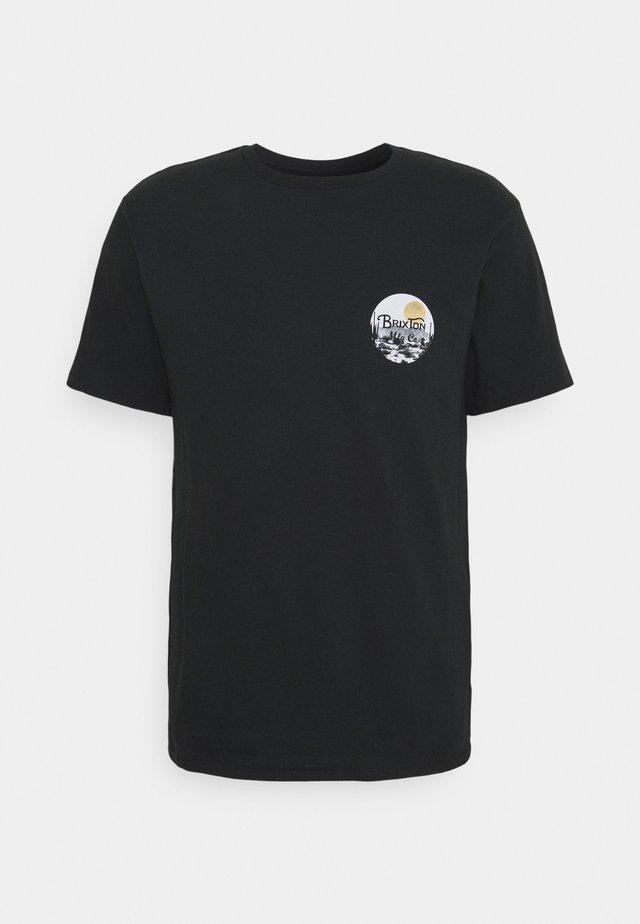 WHEELER - T-shirt med print - black/blonde